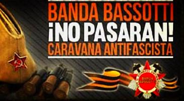 Banner der antifaschistischen Karawane von Banda Bassotti
