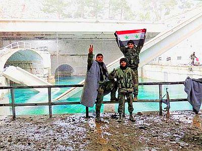 Bild: Hauptwasserversorgung von Damaskus durch Armee befreit