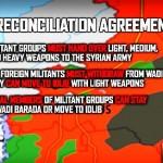 Karte: Die Lage des Wadi Barada und der Al-Fiischeh Quelle in Syrien