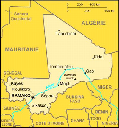 Bild: Karte von Mali