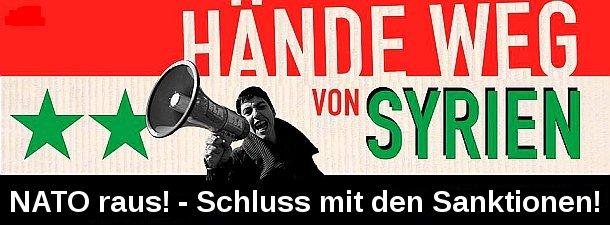 """Banner zum FB """"Tabbouleh für Damaskus"""""""